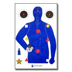 Vital Anatomy Silhouette Target Poster now available at www.karatemart.com/
