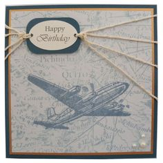 Free P Handmade Airplane Birthday Card 300 By Helle Belles Cards Boy Masculine