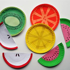 Paper Plate Fruit - easier for the younger kids.  Talked about a book -- could hole punch and attach a ring on one end.  Use colored plates for some.