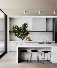 Related posts: 39 Adorable White Kitchen Design Ideas 29 Design Combinations for a Modern Kitchen 46 Most Popular Modern Kitchen Design Ideas The Forest Modern Christmas Home Tour: The Kitchen Modern Kitchen Design, Modern Interior Design, Interior Design Kitchen, Kitchen Designs, Modern Kitchens, Interior Decorating, Black Kitchens, Home Decor Kitchen, Rustic Kitchen