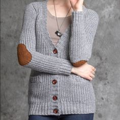 Elbow patch cardigan Elbow patch know cardigan Sweaters Cardigans