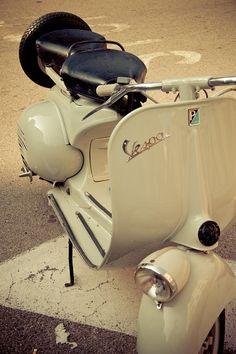 Vespa ~ Retro vintage Vespa 8x12 fine art by BasicDesign