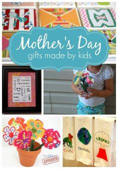 Homemade Gifts Made By Kids for Mother's Day, what adorable ideas for a personal gift. Great for grandmas too!
