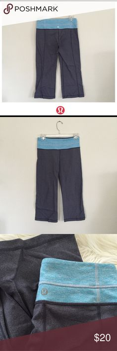 Lululemon Leggings Used condition gray Lululemon leggings with light blue band (hence extreme low price). Size 4. Hope you enjoy! 😍 lululemon athletica Pants Leggings