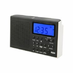 GPX Portable AM FM Shortwave Radio Digital Alarm Clock Speaker Battery Operated #GPX