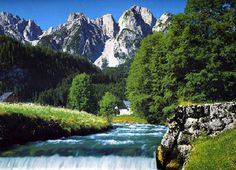 austria+pictures | the tranquil and picturesque goisern valley stretches from the town of ...