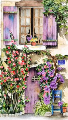 Bellasecretgarden — (via Pin by Cristina Hauth on Art - Houses and. - Decoration Fireplace Garden art ideas Home accessories Watercolor Landscape, Landscape Paintings, Watercolor Paintings, Graffiti Kunst, Decoupage Paper, Beautiful Paintings, Painting Inspiration, Home Art, Art Drawings