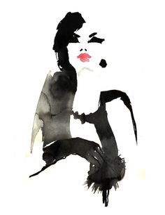 "Saatchi Online Artist: Sylvia Baldeva; Drawing, 2011, Digital ""Fashion illustration"""