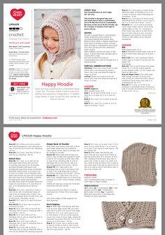 Kubaloo Love Wool By Katia Beanie Knitting Patterns Free, Baby Cardigan Knitting Pattern, Baby Hats Knitting, Crochet Baby Hats, Crochet For Kids, Crochet Hooded Scarf, Crochet Hoodie, Crochet Motif, Knit Crochet