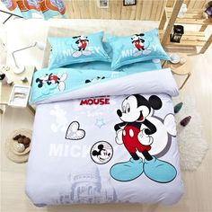 2015 Hot Seller Mickey Mouse Baby Bedding Sets Blue And White Bedding Comforter Sale Toddler Bedding Sets Duvet Insert From Fast_kin, $94.88| Dhgate.Com