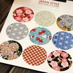 These vibrant, beautiful stickers are patterned in the traditional Japanese style print. They are an elegant addition to our sticker collection and make such an impression! Youll want to use these on your craft items or planner, or gift them to someone special. Each sticker measures 1.5 inches.  Like this? Take a peek at our store for more like this.