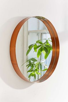 Averly Circle Mirror - Urban Outfitters -- for fireplace wall? Interior Desing, Interior And Exterior, Bathroom Mirror Inspiration, Bathroom Ideas, Large Circle Mirror, Mirrors Urban Outfitters, Copper Mirror, Mirror Mirror, Fireplace Wall