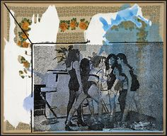 "Sigmar Polke (b. 1941 - d. 2010, Germany), ""Bikini Frauen"", (1999) - Mixed Media and Acrylic on Canvas."