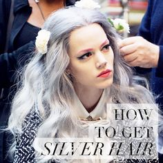 Check out our latest blog post to find out how to get silver hair! http://dirtylooks.com/blog/how-to-get-silver-hair/