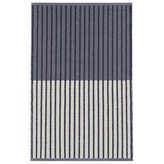 Graham Navy Woven Cotton Rug | Dash & Albert