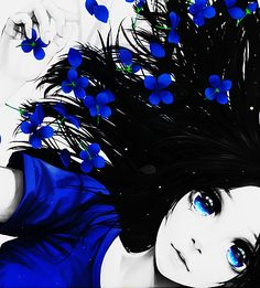 anime kawaii blue wow Anime girl anime art anime edit airaishiedits miharu akimoto