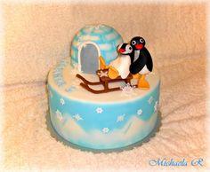 Pingu - Cake by Mischell
