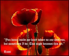 Rumi quotes in Red!
