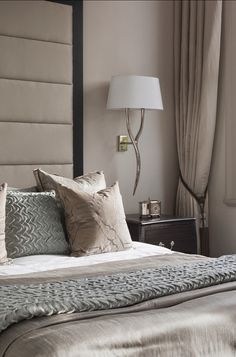 Bedroom Design Ideas. I love elegant bedroom design. Hotel-chic! #BedroomDesign #Bedroom