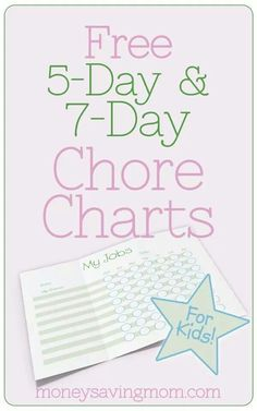 Customizable chore charts