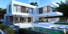 Minimalistic villa close to the marina and the golf course - Santa Ponsa Read more: http://goo.gl/7nrQc8 #mallorcaimmobilien #luxuryvilla #santaponsa #portadriano #moderndesign