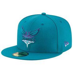 quality design 99186 2e45e Men s Charlotte Hornets New Era Teal Logo Grade 59FIFTY Structured Hat,   35.99 New Era Logo