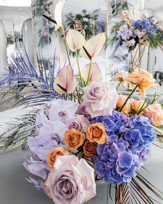 Beautiful Wedding Reception Decoration Ideas - Put the Ring on It Exotic Flowers, Tropical Flowers, Beautiful Flowers, Floral Flowers, Floral Wedding, Wedding Colors, Wedding Flowers, Elegant Wedding, Purple Wedding
