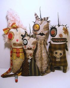 Monsters Wenna, Miniver, Meraud and Hammett | In my Etsy sho… | Flickr