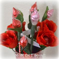 Mom On Timeout: Hershey's Kiss Roses - A Sweet Valentine's Day Bouquet