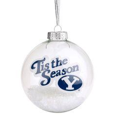BYU Cougars 'Tis the Season Glass Ball Ornament