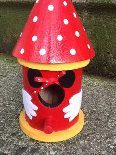A personal favorite from my Etsy shop https://www.etsy.com/listing/100034495/decorative-minnie-mouse-birdhouse