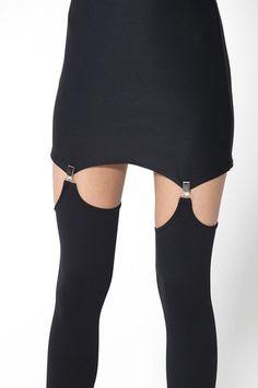 New Matte Black Reverse Suspenders