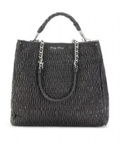 mytheresa.com - Miu Miu - MATELASSÉ LEATHER TOTE - Luxury Fashion for Women / Designer clothing, shoes, bags - StyleSays