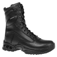 Ridge Footwear 8036 Mens All Leather Eagle Black Work Combat Boots Shoes 4 Med #RidgeFootwear #Military