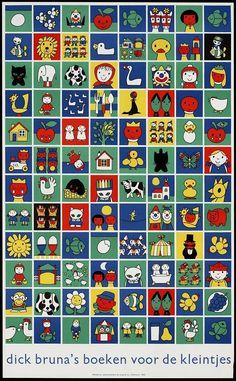 Dick Bruna book for kids. Simple Illustration, Children's Book Illustration, Round Robin, Miffy, Cartoon Drawings, Word Art, Book Design, Childrens Books, Poster Prints