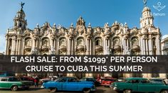 Cuba?! Yes, please. Email TravelRoyally@OfficiallyCrownedTravel.com to book your 7-night round-trip cruise departing from Miami! From $1099/pp?! #BANANAS #Cuba #Fathom