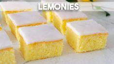 Lemonies o brownies de limón Stevia, Sin Gluten, Chocolate Cookies, Cookie Bars, Deli, Cornbread, Vanilla Cake, Bakery, Cheesecake