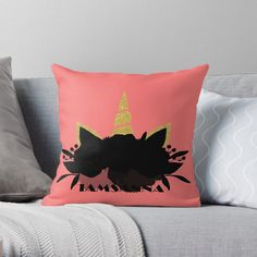 Vibrant double-sided print throw pillows to update any room @TheRealSanna #iamsanna I Am Sanna, Designer Throw Pillows, Home Decor Items, Pillow Design, Vibrant, Room, Bedroom, Rooms, Rum