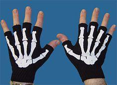 White Bone Fingerless Work Gloves