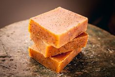 Grapefruit Poppyseed Exfoliating Bar Soap by FriendlyBodyProduct