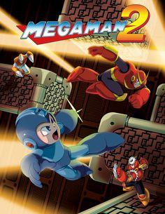 Nova artwork de Mega Man Legacy Collection baseadas nos dois primeiros jogos