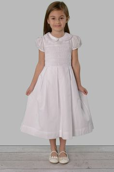 Blair is true beauty with her hand smocking, embroidery, and box pleats. A great white or ivory dress for many occasions including Christmas, Easter, Communion, flower girls and more!
