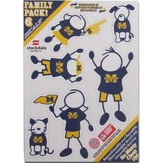 Michigan Wolverines Family Decal Auto Pack Small 5 x 7