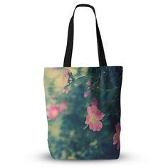 """Ann Barnes """"Central Park Roses"""" Pink Nature Everything Tote Bag"""