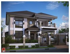 Model House... :) Two Story House Design, Bungalow House Design, House Front Design, Modern House Design, Modern Zen House, Beautiful House Plans, Dream House Plans, Philippines House Design, Philippine Houses