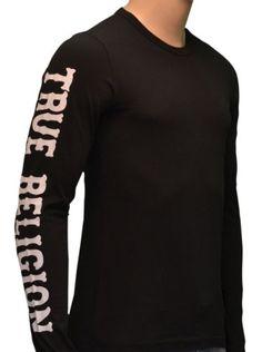 True Religion Brand Jeans Men's Long Sleeve Shirt-Black « Clothing Impulse