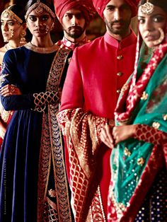 Sabyasachi - The Flagship Store bridal campaign shots photographed by Tarun Khiwal Photography in the Taj FAlakhnuma Palace Indian Attire, Indian Ethnic Wear, Indian Style, Saris, Indian Dresses, Indian Outfits, Women's Dresses, India Fashion, Girl Fashion