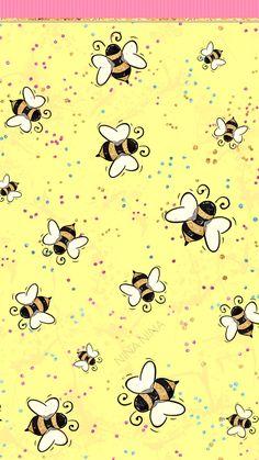 Cute Bee Wallpaper, Summer Clipart, Tropical, Beach, Yellow | Etsy Free Wallpaper 1080x1920 Nina Nina #wallpaper #pozadine #bontontv