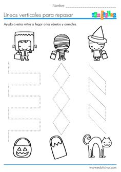 Crafts,Actvities and Worksheets for Preschool,Toddler and Kindergarten.Lots of worksheets and coloring pages. Theme Halloween, Halloween Crafts For Kids, Halloween Movies, Kids Crafts, Halloween Worksheets, Preschool Worksheets, Preschool Activities, Pre Writing, Writing Skills