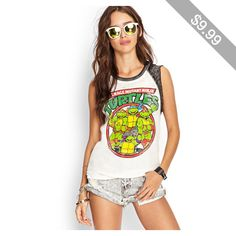 Forever 21 TMNT Muscle Tee